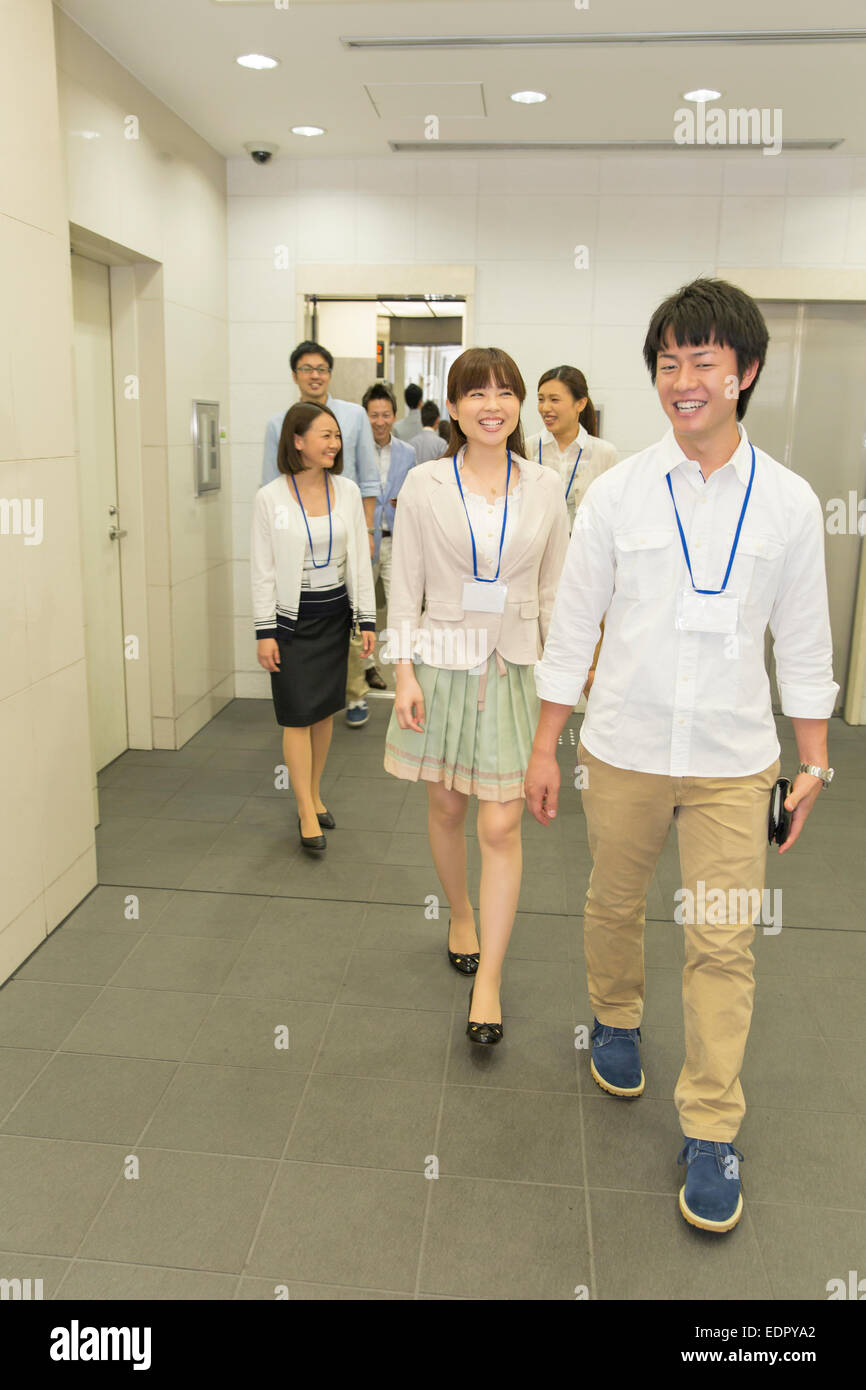 Business People on the Move - Stock Image
