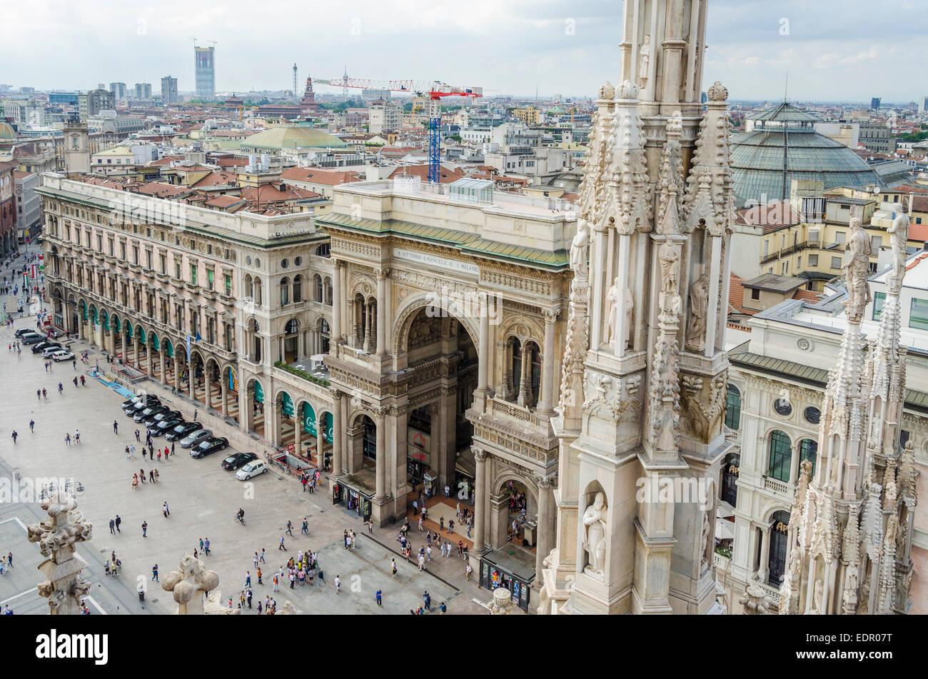Milan Cathedral, Milan, Italy - Stock Image