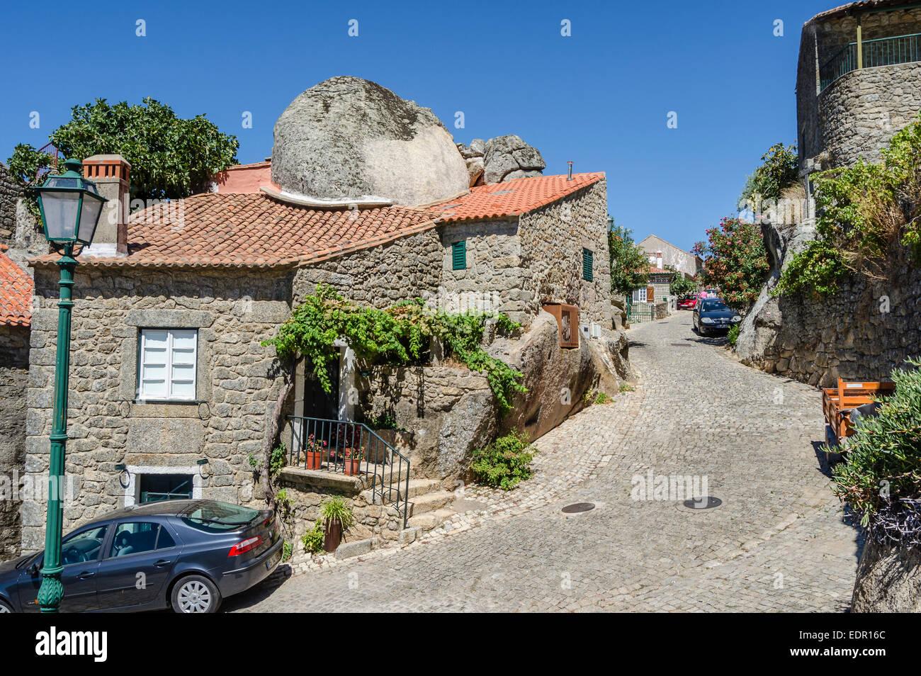 Stone Village, Monsanto, Portugal - Stock Image