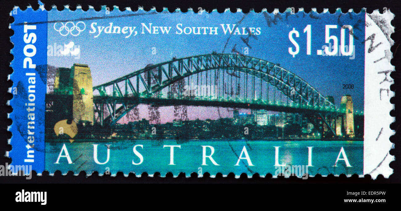 Used and postmarked Australia / Austrailian Stamp $1.50 Sydney New South wales 2000 - Stock Image