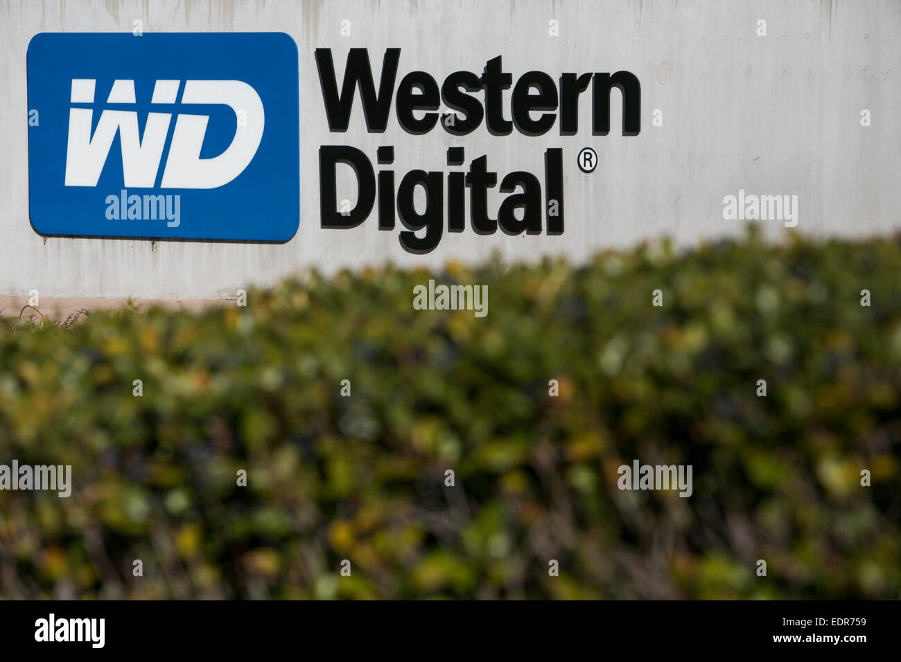 An office building occupied by the Western Digital Corporation in San Jose, California. - Stock Image