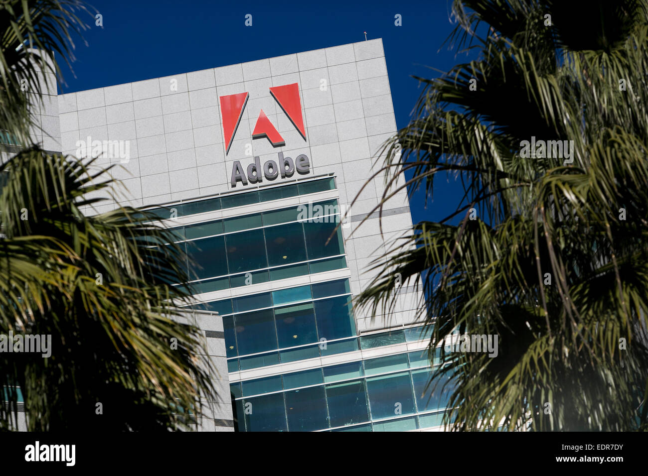 The headquarters of Adobe Systems in San Jose, California. - Stock Image