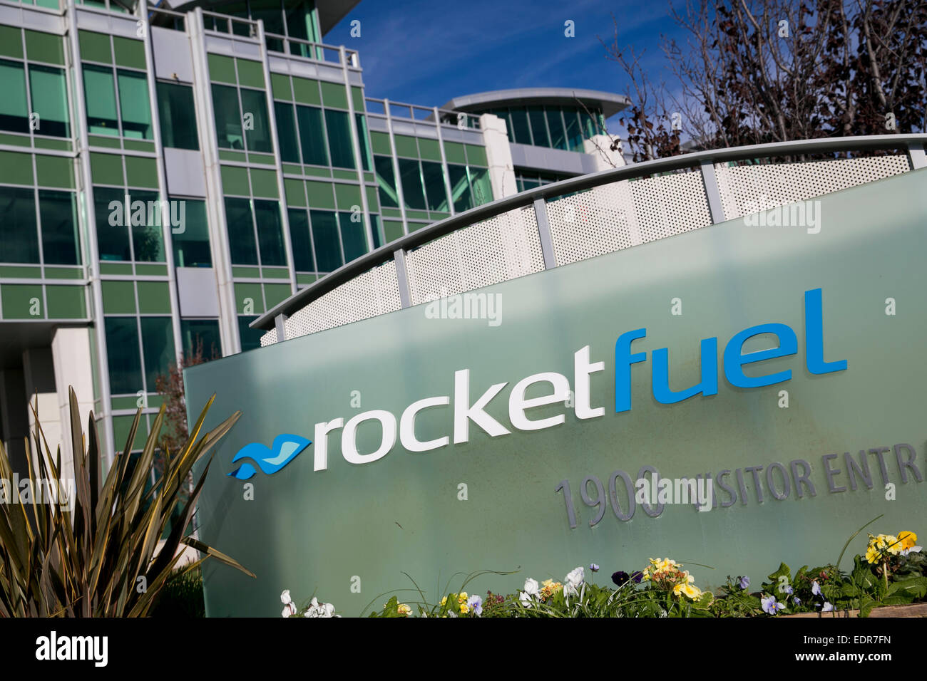 The headquarters of Rocket Fuel Inc., in Redwood City, California. - Stock Image