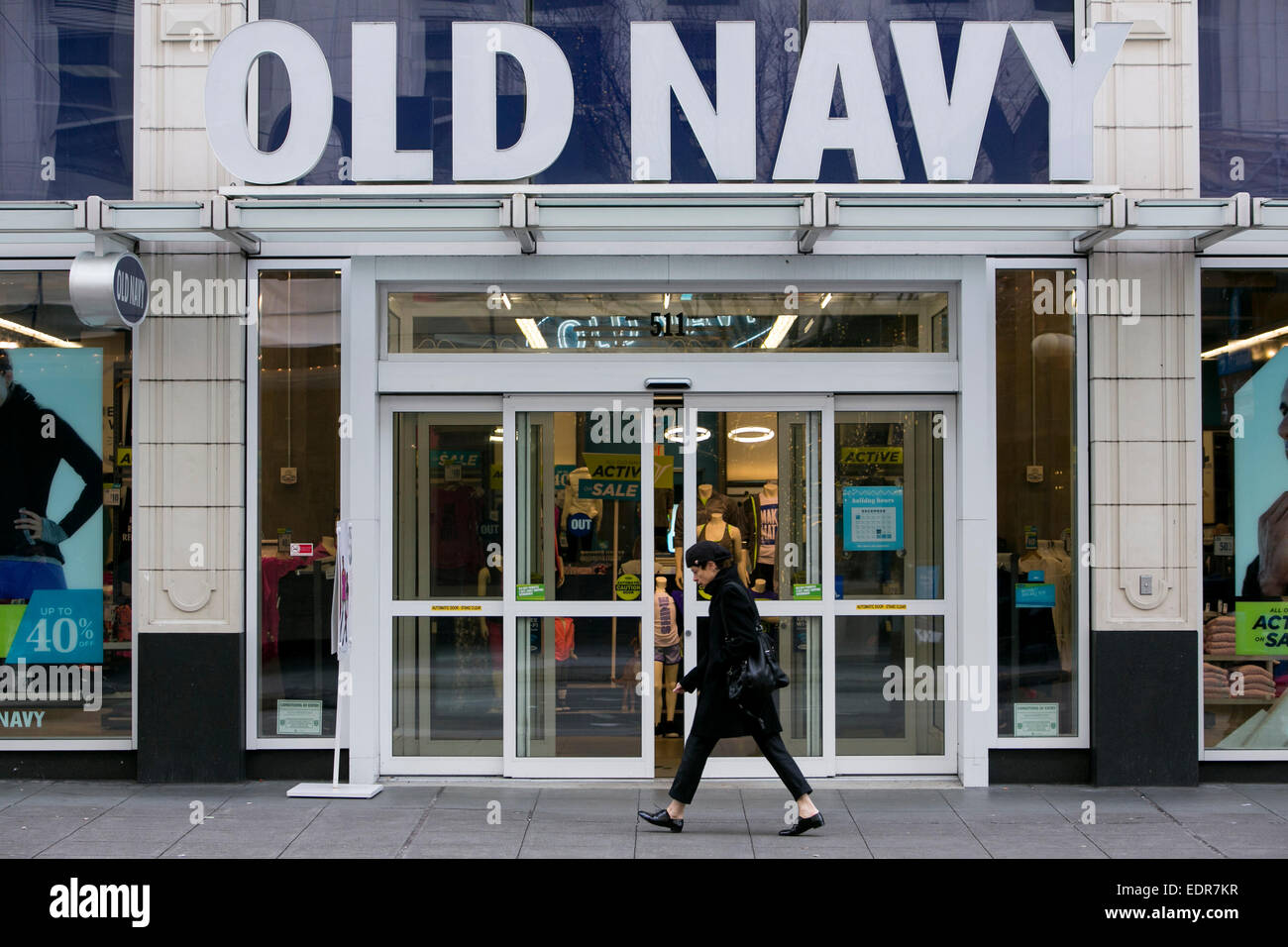 A Old Navy Clothing Retail Store In Downtown Seattle, Washington.