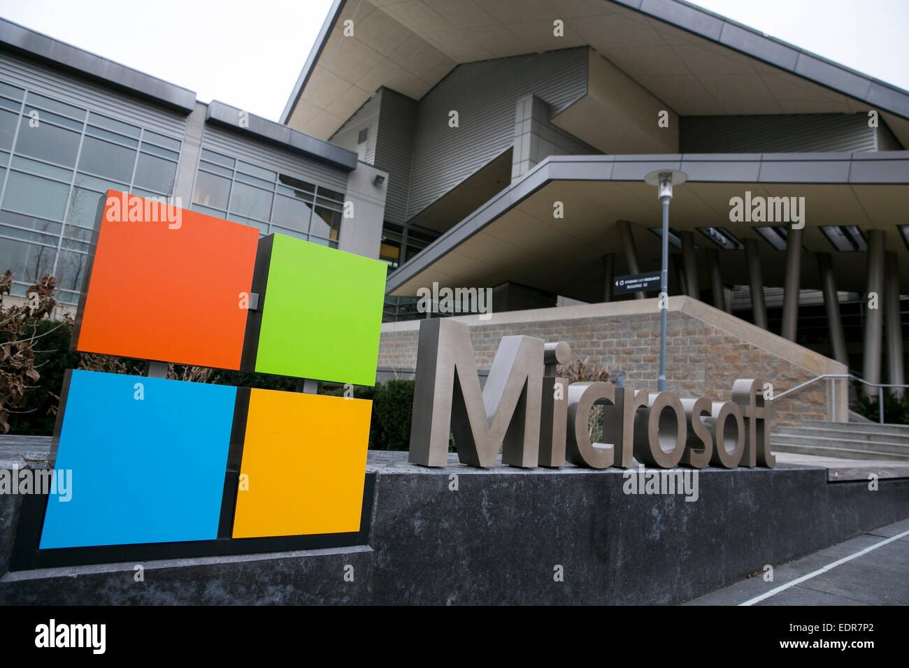 microsoft office in redmond. A Logo Sign Outside The Headquarters Campus Of Microsoft In Redmond, Washington. Office Redmond E