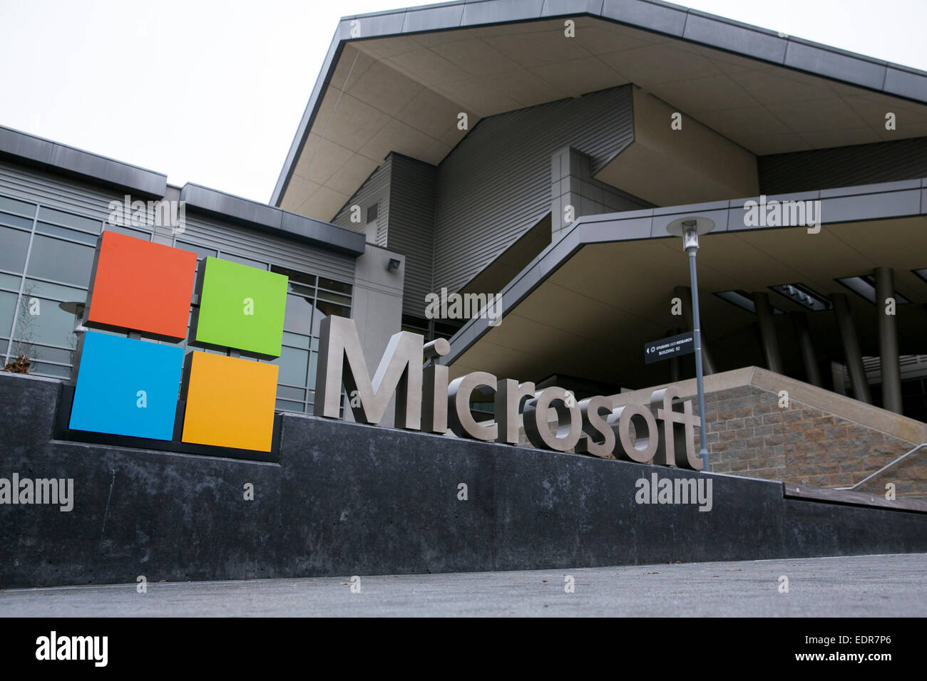 microsoft redmond office. A Logo Sign Outside The Headquarters Campus Of Microsoft In Redmond, Washington. Redmond Office U