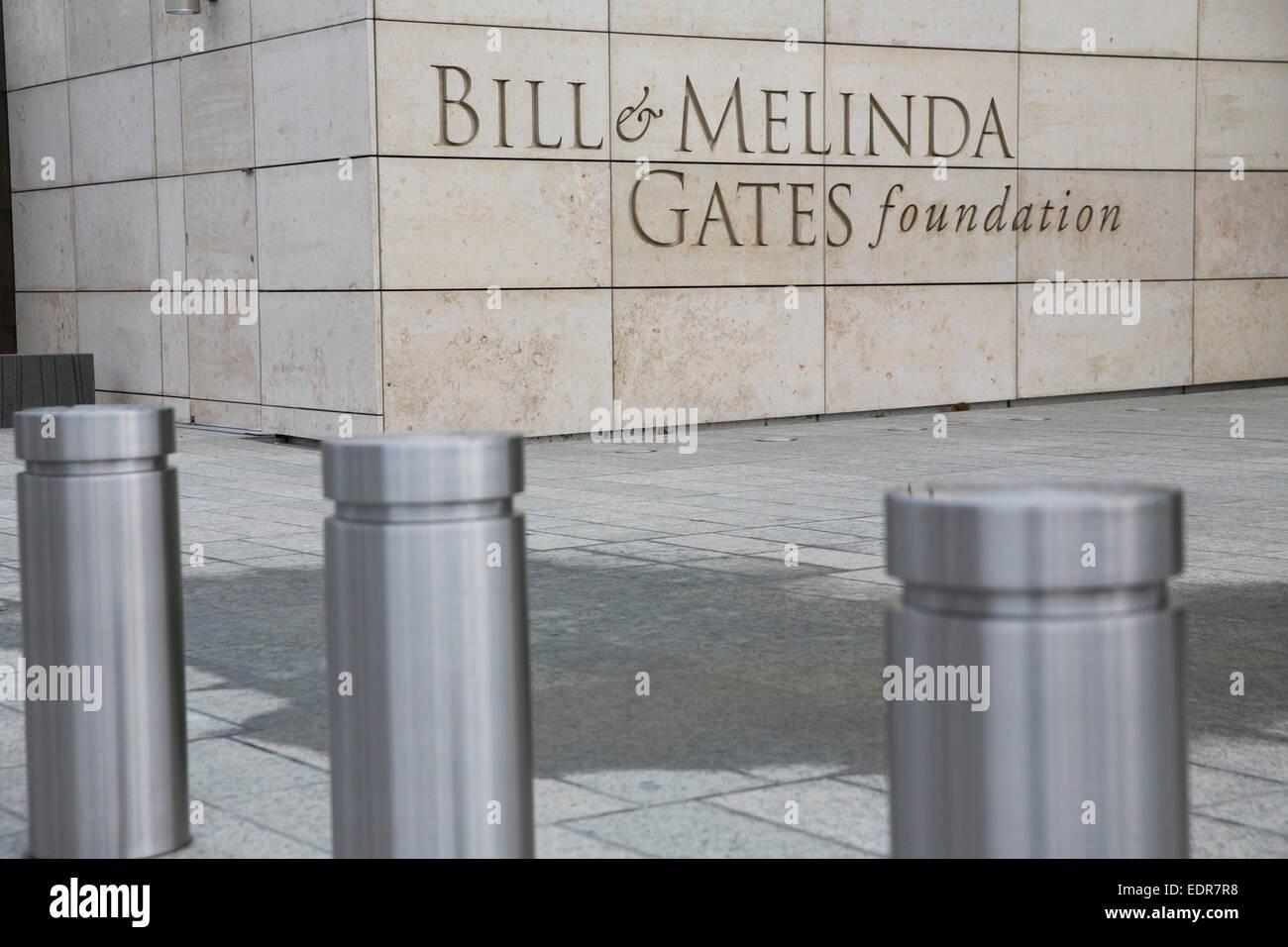The headquarters of the Bill & Melinda Gates Foundation in Seattle, Washington. - Stock Image
