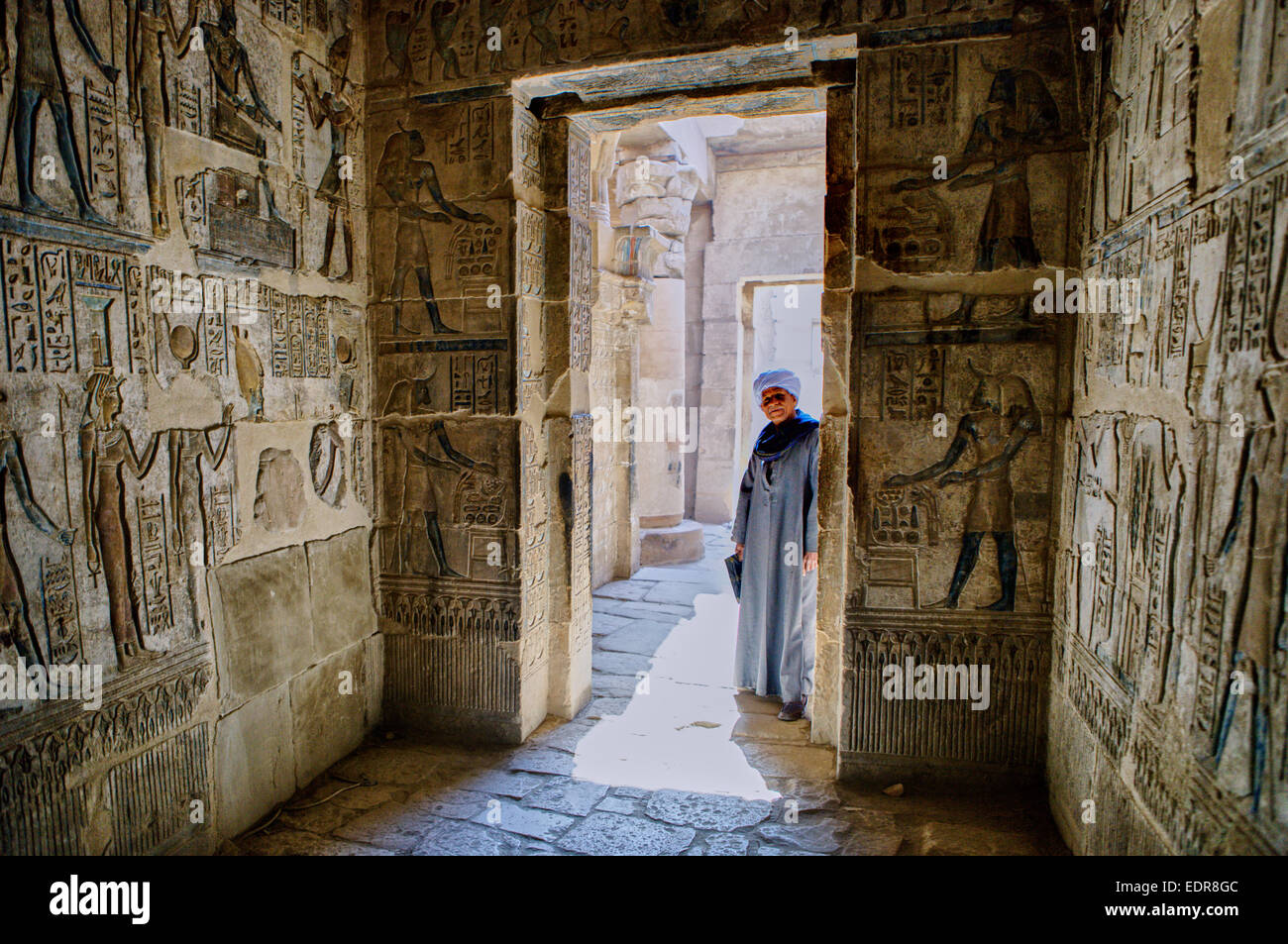 Tomb keeper in the Valley of the Kings - Stock Image