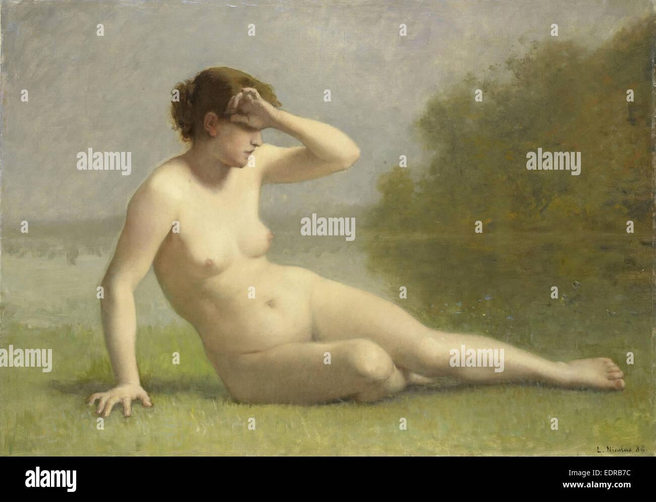 Nymph, L. Nicolas, 1886 - Stock Image