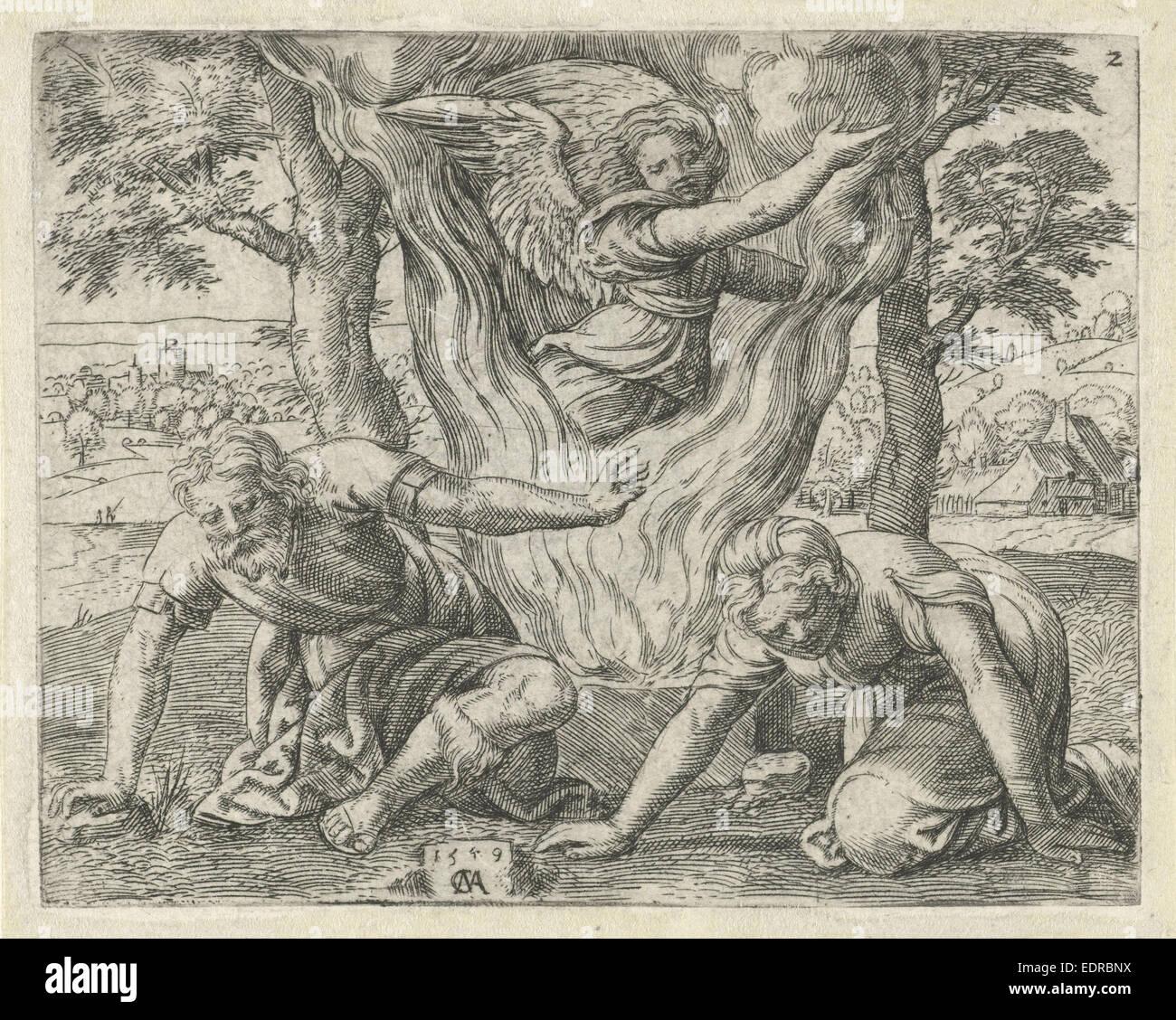 Sacrifice of Manoah, Cornelis Massijs, 1549 - Stock Image