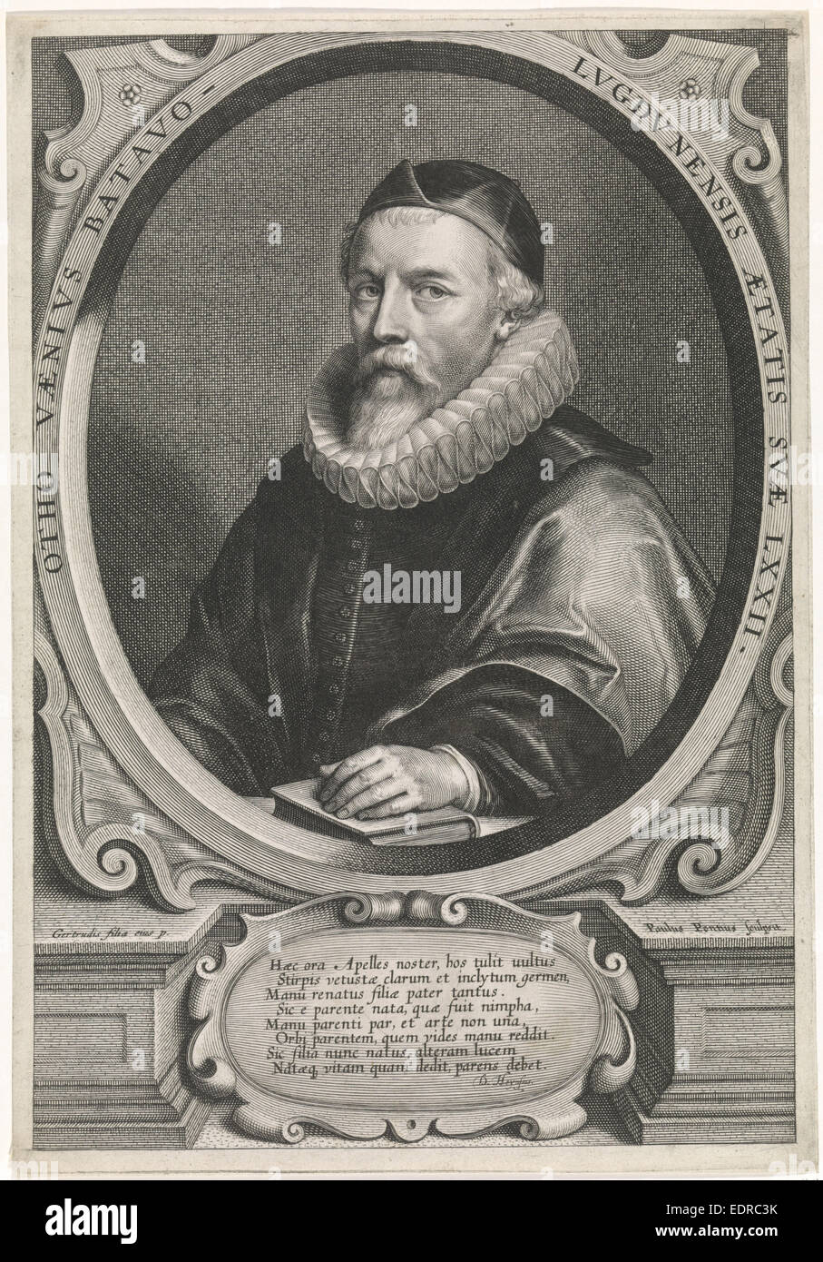 Portrait Of The Painter Otto Van Veen, At The Age Of 72, Paulus Pontius