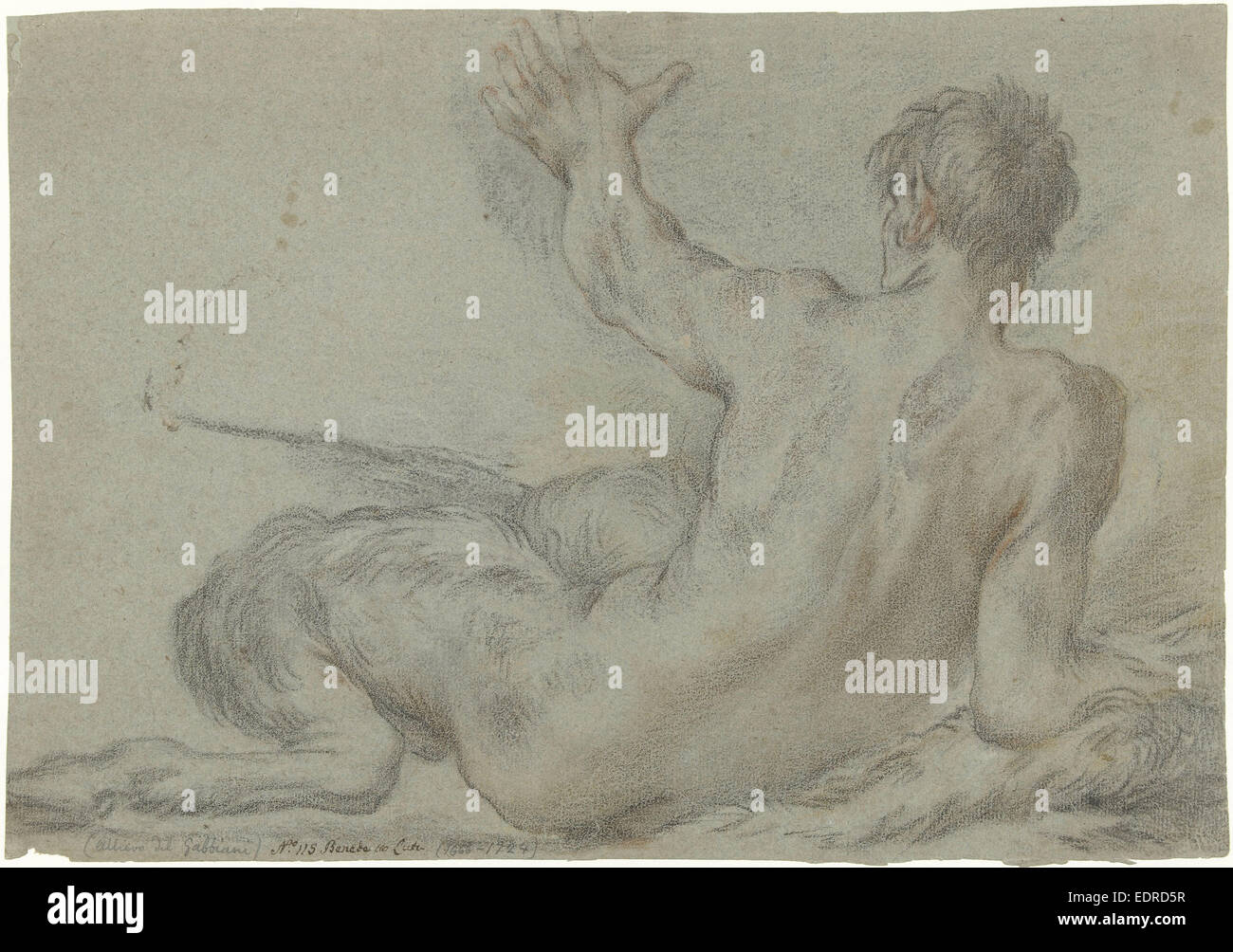 Reclining Satyr, Benedetto Luti, 1676 - 1724 - Stock Image