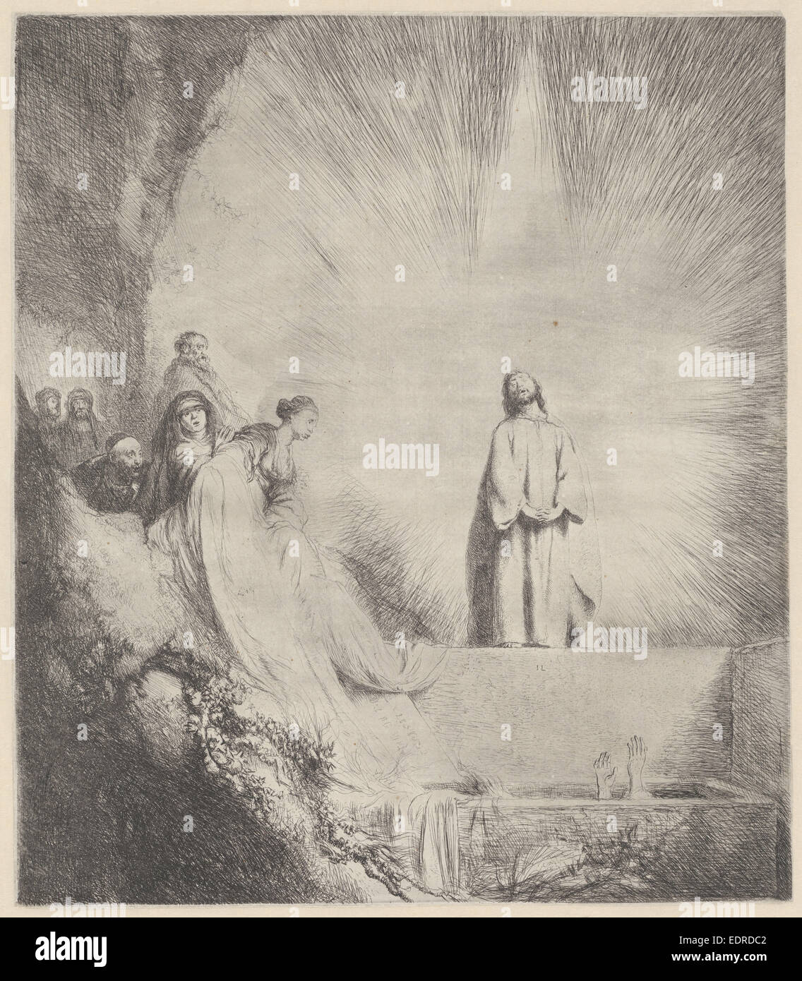 Raising of Lazarus, Jan Lievens, 1630 - 1631 Stock Photo