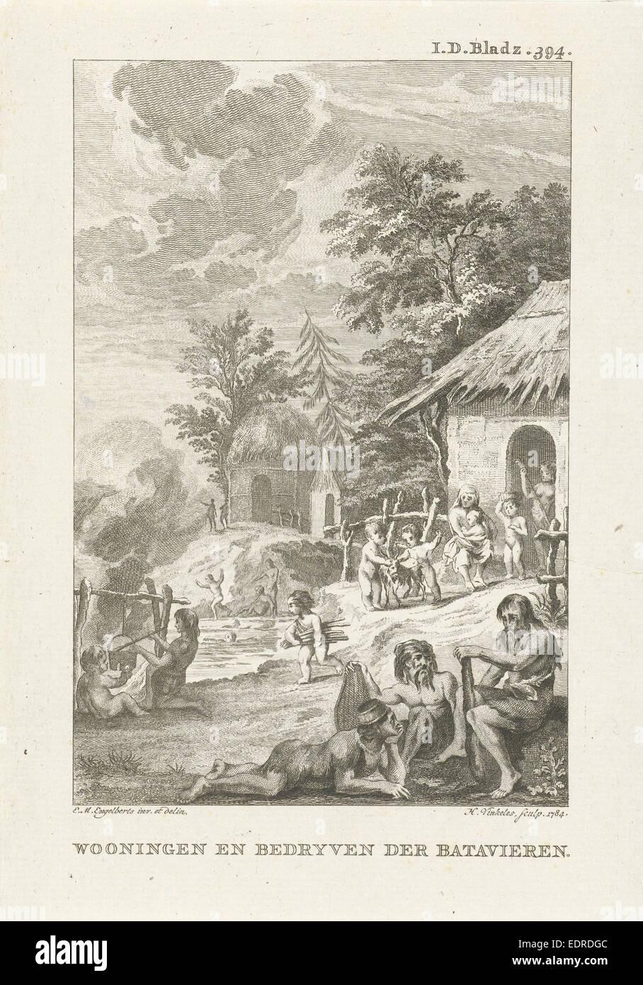 Domestic Life of the Batavians, Harmanus Vinkeles, 1784 Stock Photo