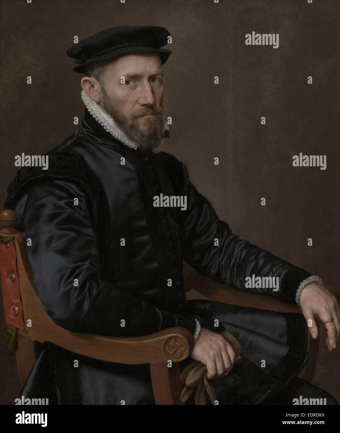 Portraits of Sir Thomas Gresham and Anne Fernely, Anthonis Mor, c. 1560 - c. 1565 - Stock Image