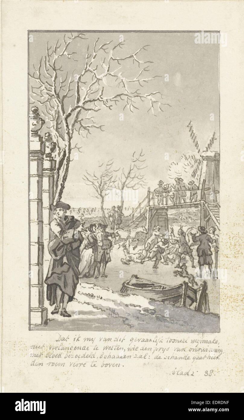 Winter, Reinier Vinkeles, 1769 - Stock Image