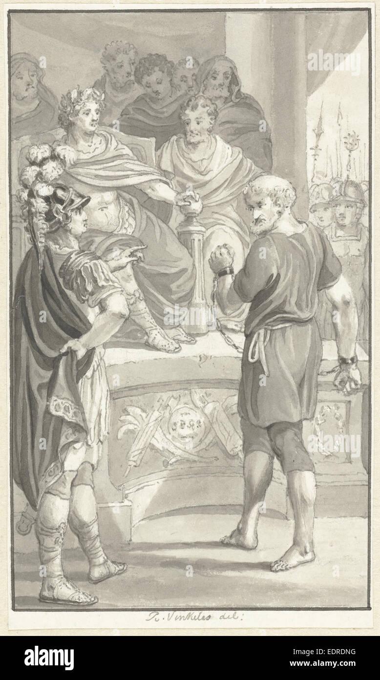The suicide of Seneca and his wife, Reinier Vinkeles, 1804 - Stock Image