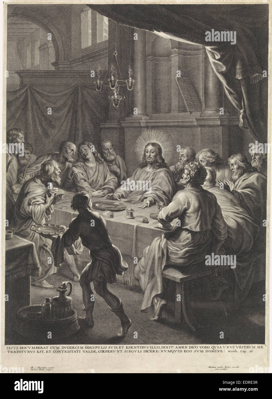 Last Supper, Michel Natalis, Martinus van den Enden - Stock Image