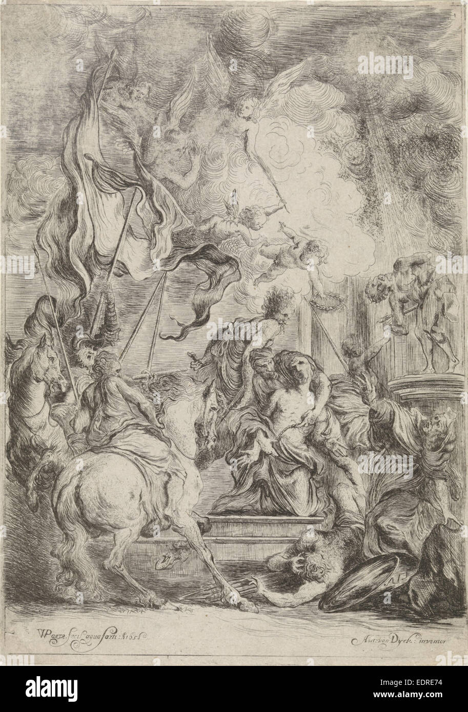 Martyrdom of St. George, Willem Paets, 1658 - Stock Image