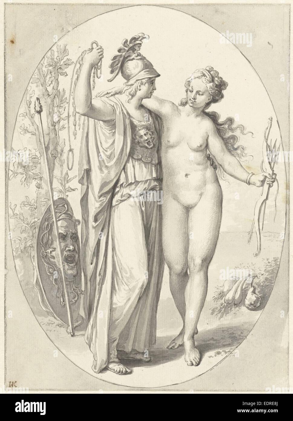 Minerva and Venus, Anonymous, 1700 - 1800 - Stock Image