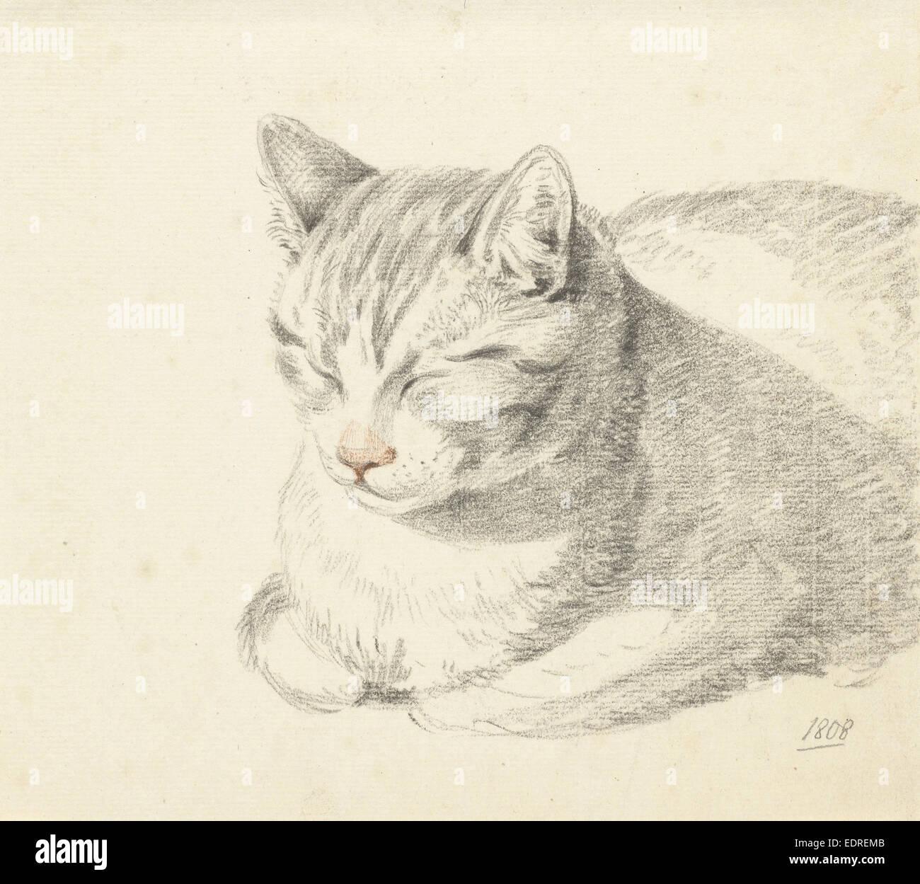 Cat, Jean Bernard, 1808 - Stock Image