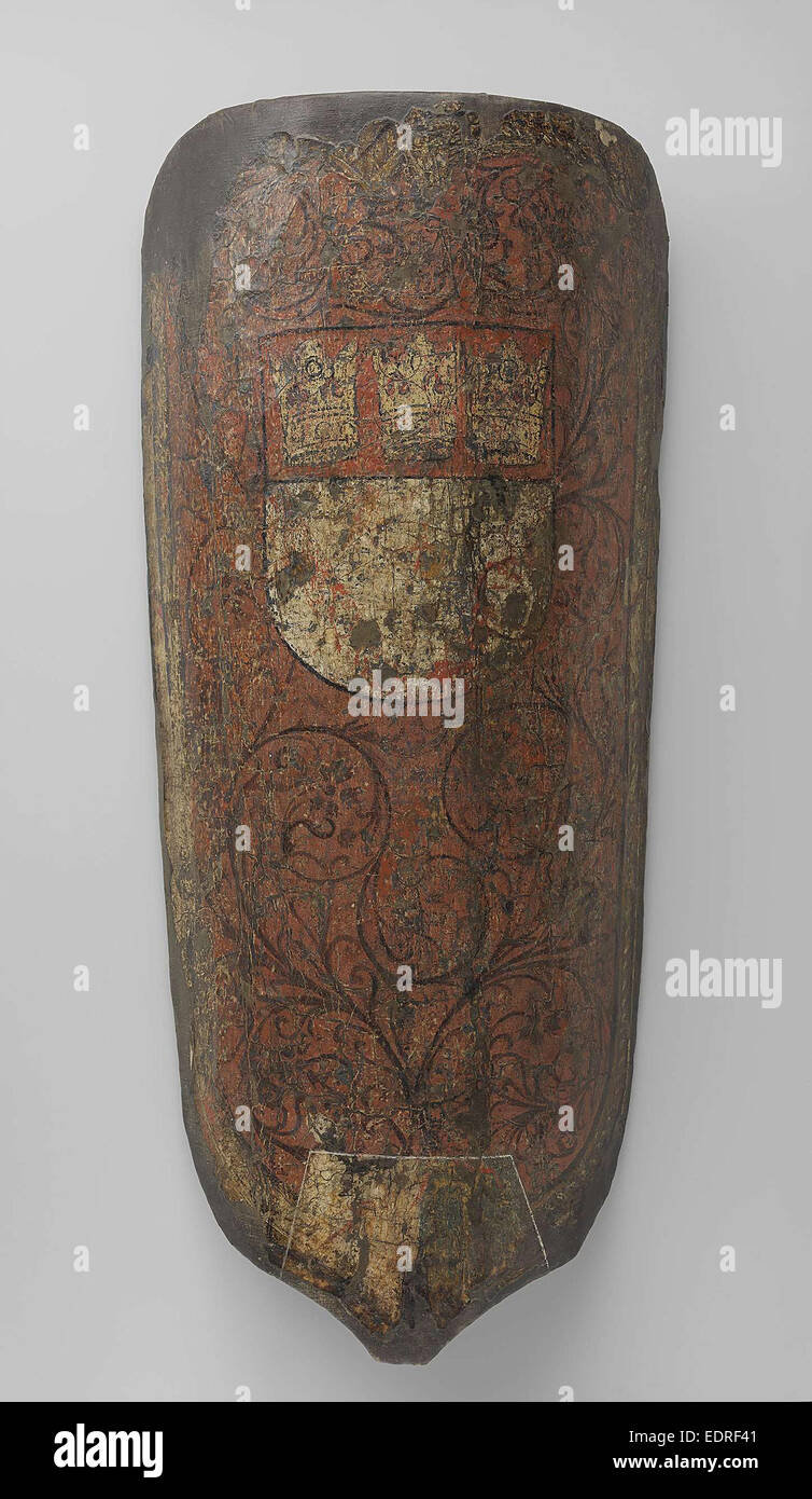 Two shields, Anonymous, 1400 - 1500 - Stock Image