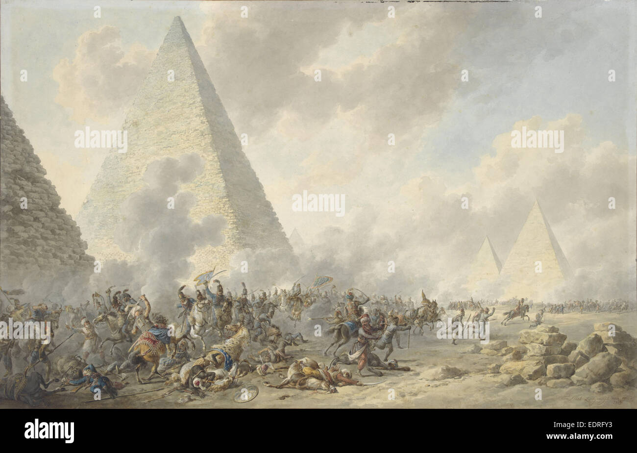 Battle of the Pyramids, Dirk Langendijk, 1803 - Stock Image