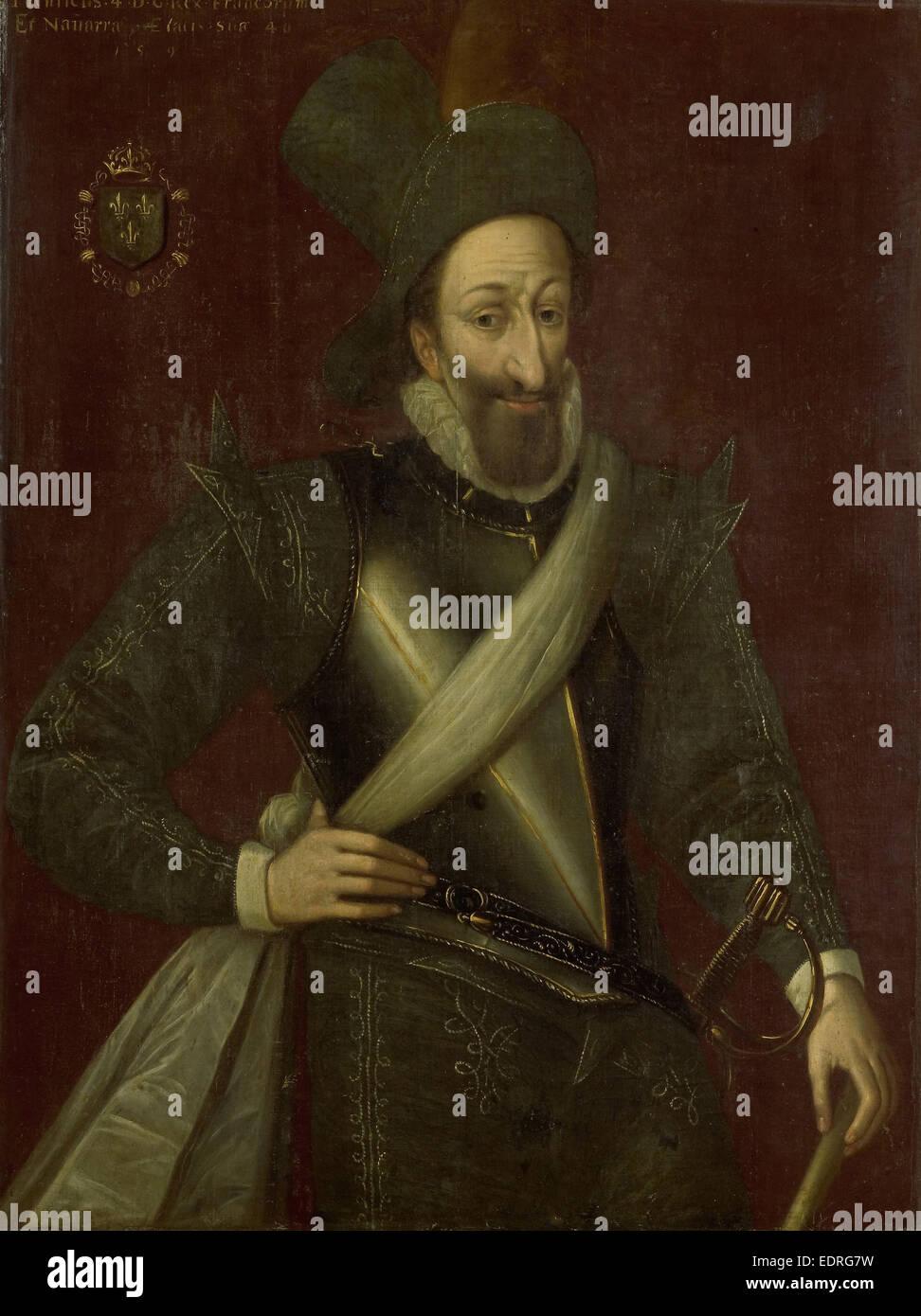 Portrait of King Henry IV of France, manner of Jacob Bunel, 1592 - Stock Image