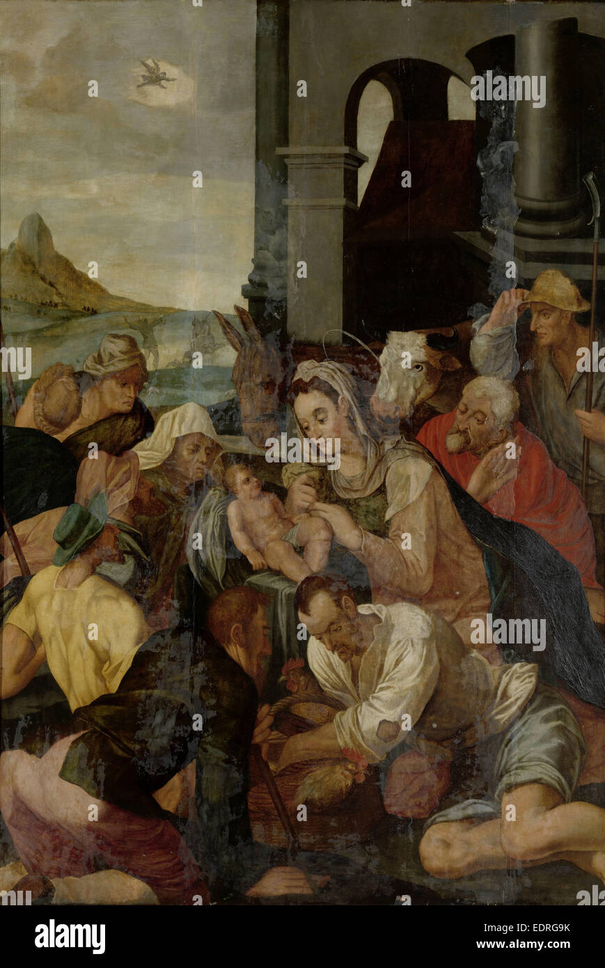 Adoration of the Shepherds, Anonymous, 1550 - 1599 - Stock Image