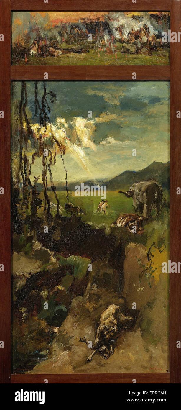 The Expulsion from Paradise, Willem de Zwart, 1900 - 1931 - Stock Image