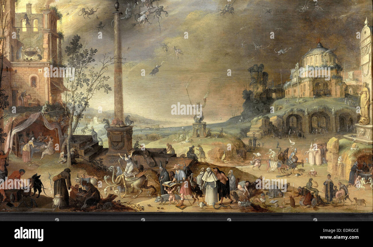 Witches' Sabbath, Allegory of Vice, Claes Jacobsz. van der Heck, 1636 - Stock Image