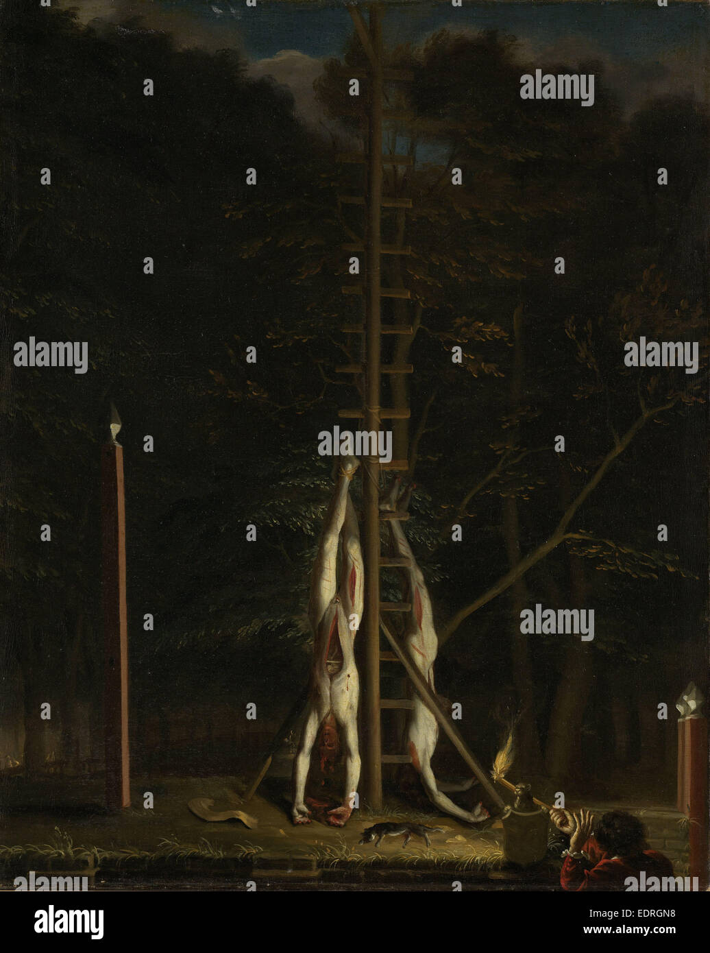 The Corpses of the De Witt Brothers, attributed to Jan de Baen, c. 1672 - c. 1675 - Stock Image