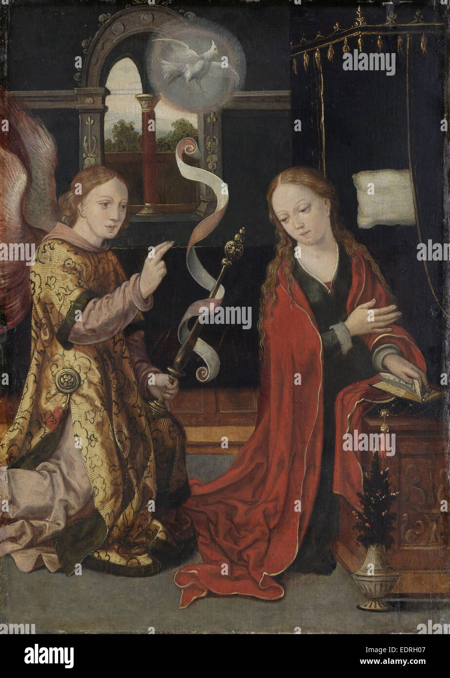 The Annunciation, Anonymous, c. 1550 - Stock Image