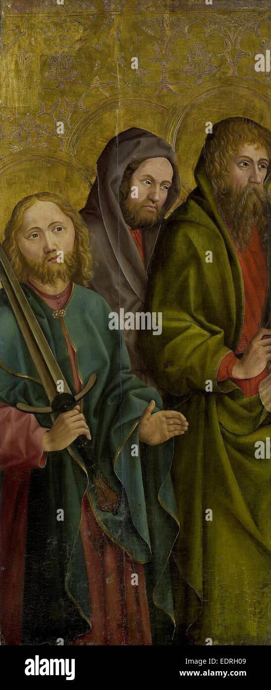 Three Apostles, Anonymous, c. 1500 - Stock Image