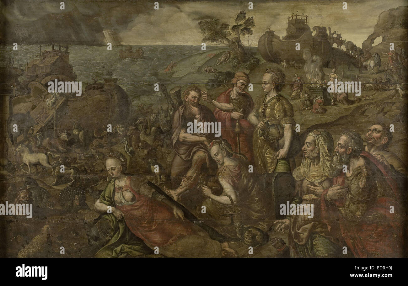 Noah's Ark, Anonymous, 1575 - 1599 - Stock Image