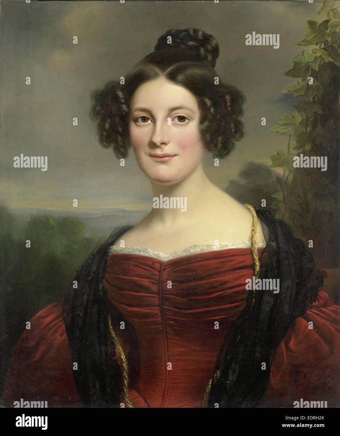 Catharina Annette Fraser (1815-92), Jan Adam Kruseman, 1834 - Stock Image