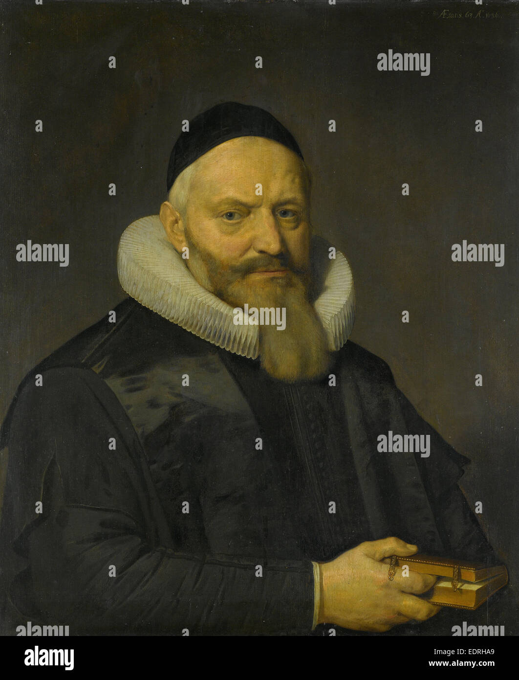 Portrait of Anthony de Wale, Professor of Theology in Leiden, The Netherlands, David Bailly, 1636 - Stock Image