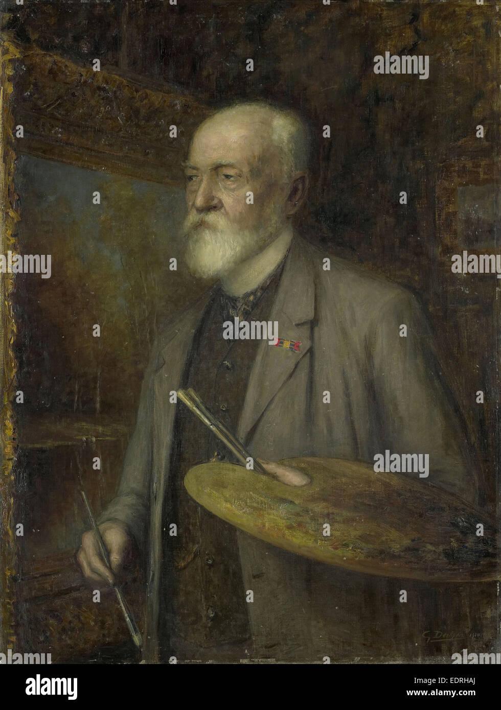 Johannes Gijsbert Vogel (1828-1915). painter, Gijsbertus Derksen, 1910 - Stock Image