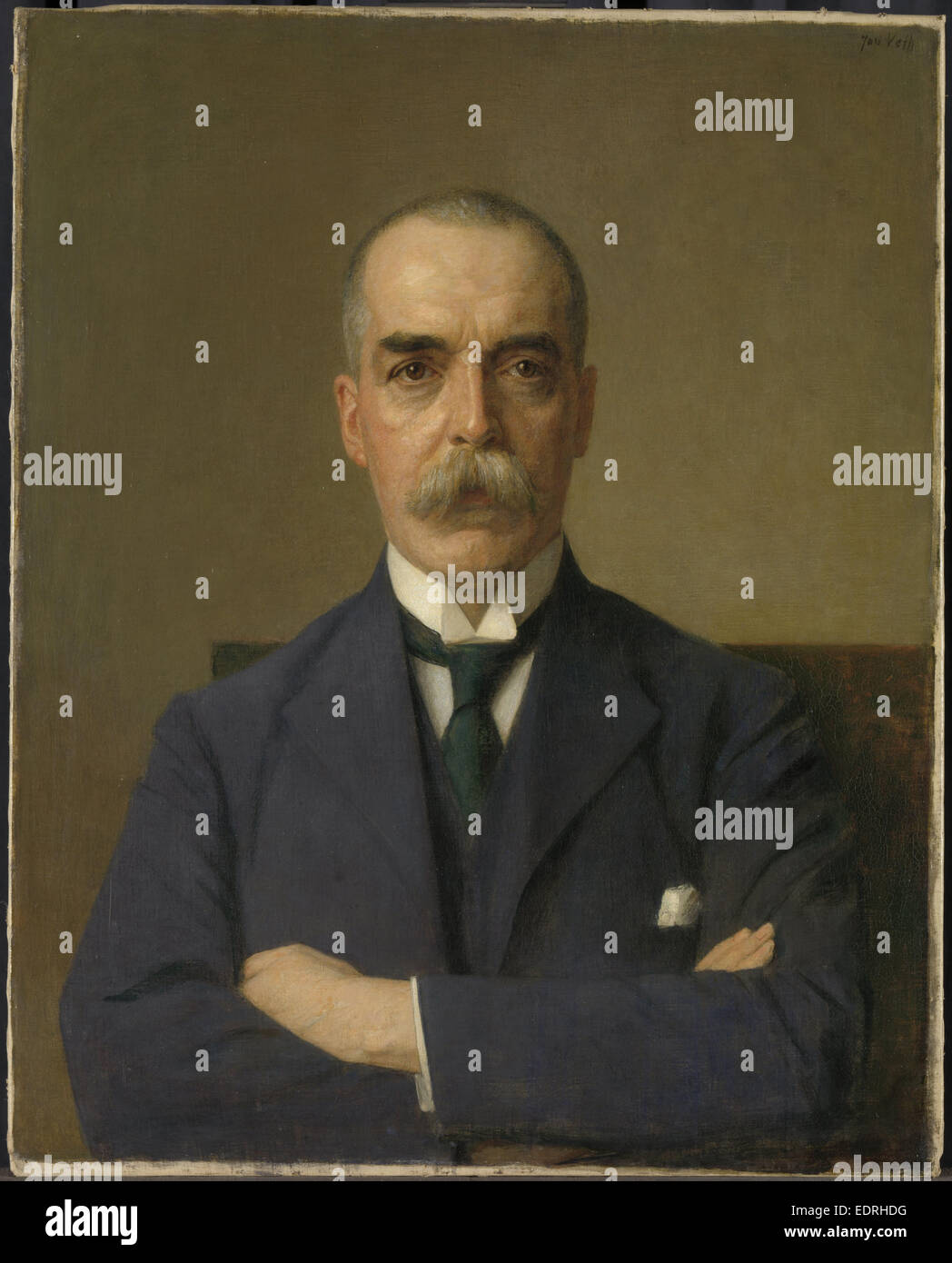 Portrait of Isaac de Bruijn, 1873-1953, Jan Veth, 1922 - Stock Image