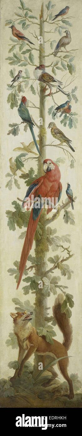 Decorative Depiction with Plants and Animals, Anonymous, 1760 - 1800 - Stock Image