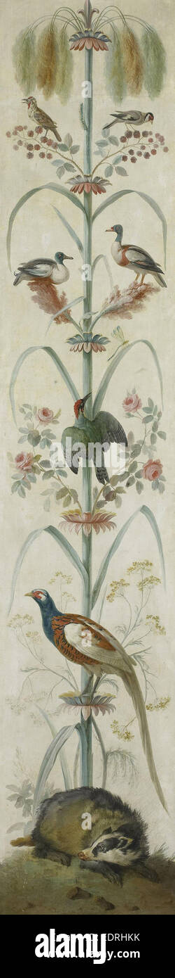 Decorative Depiction with Plants and Animals, Anonymous, 1760 - 1799 - Stock Image
