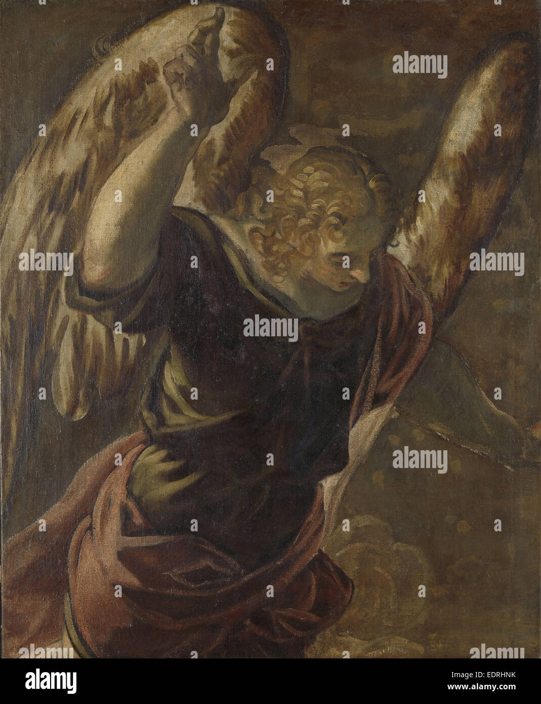 Angel from the Annunciation to the Virgin, Jacopo Tintoretto, 1560 - 1585 - Stock Image