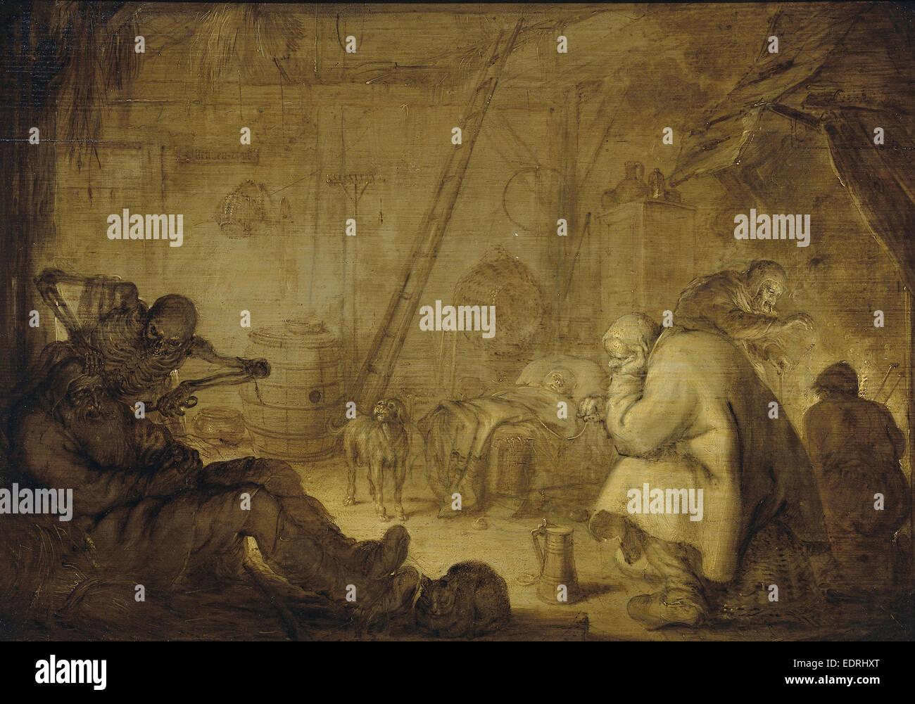 The End of Misery, Adriaen Pietersz. van de Venne, 1632 Stock Photo