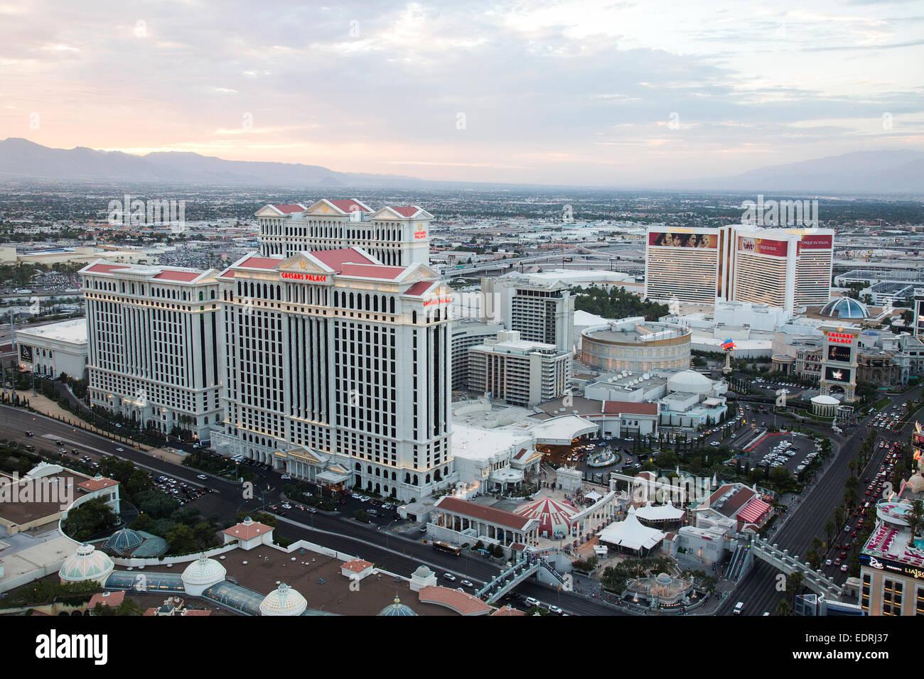 Caesars Palace Hotel and Casino on the Las Vegas Strip in Paradise, Nevada. - Stock Image