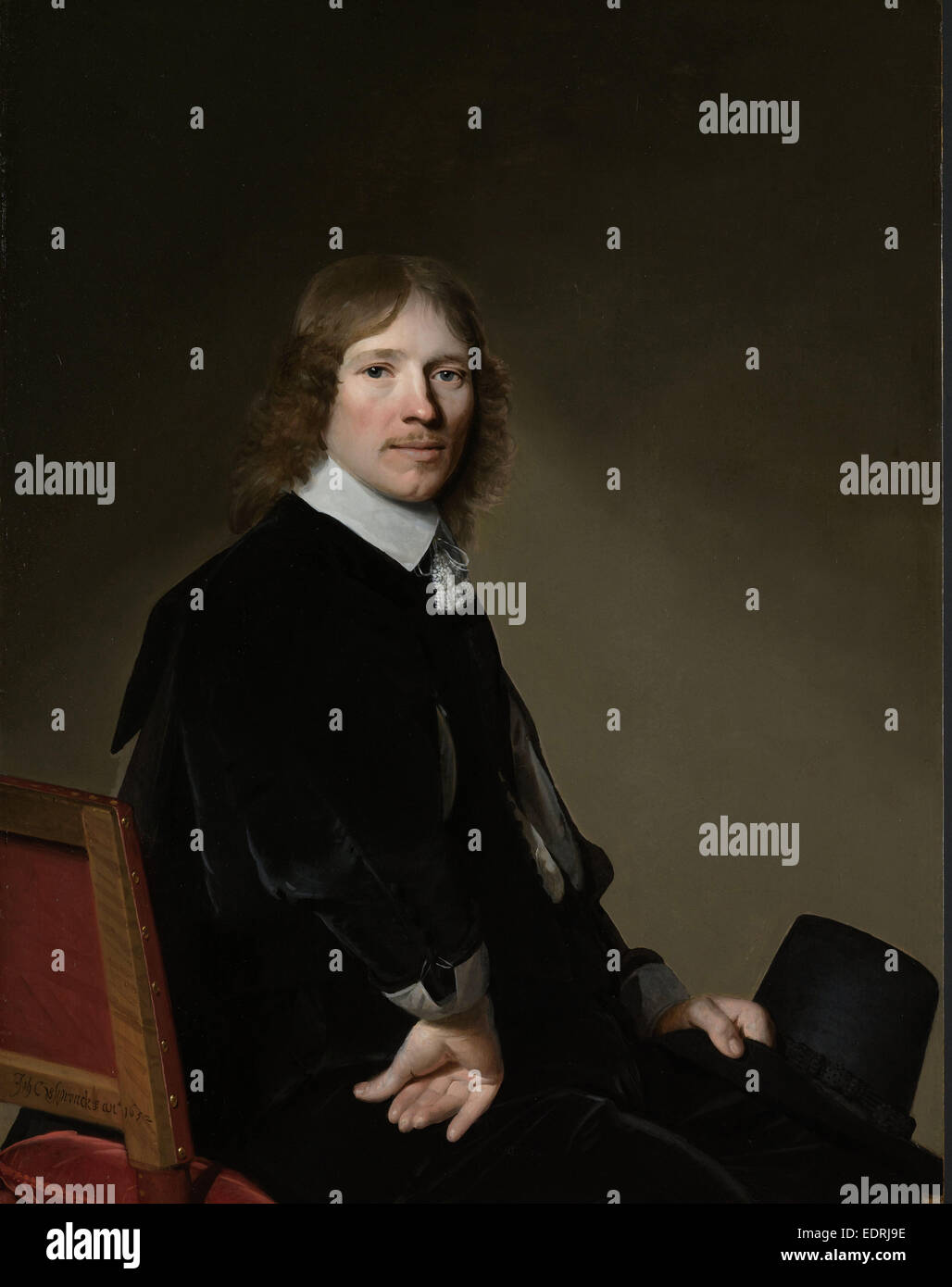 Portrait of Eduard Wallis, Johannes Cornelisz. Verspronck, 1652 Stock Photo