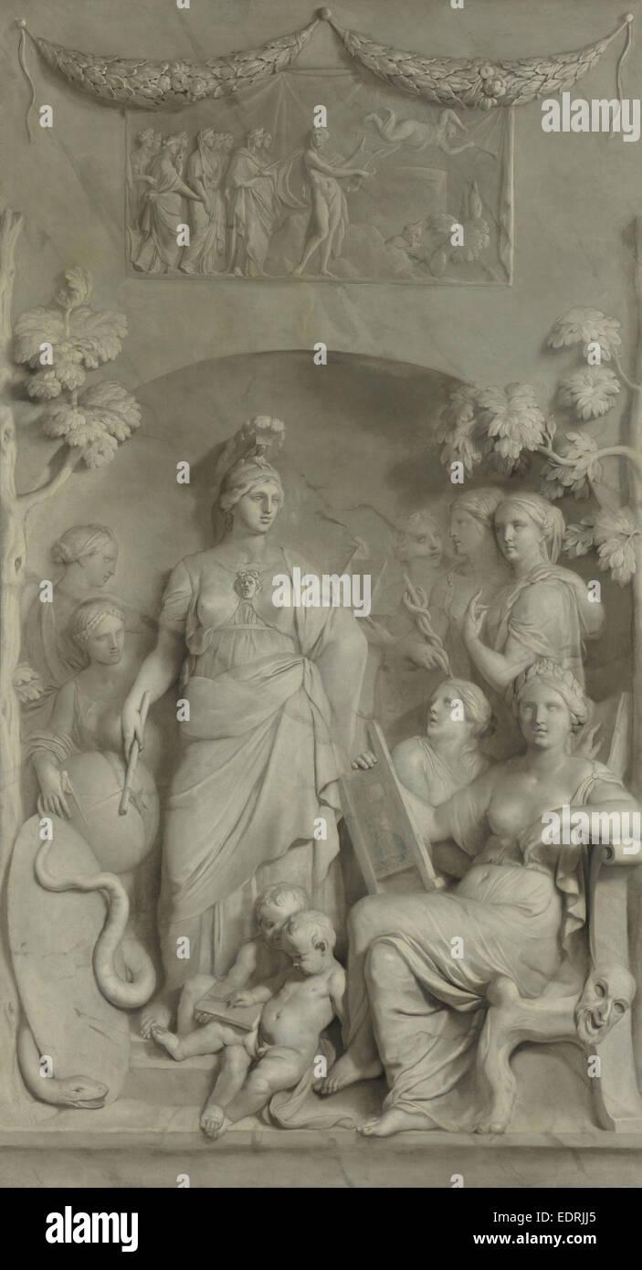 Allegory of the Sciences, Gerard de Lairesse, c. 1675 - c. 1683 - Stock Image