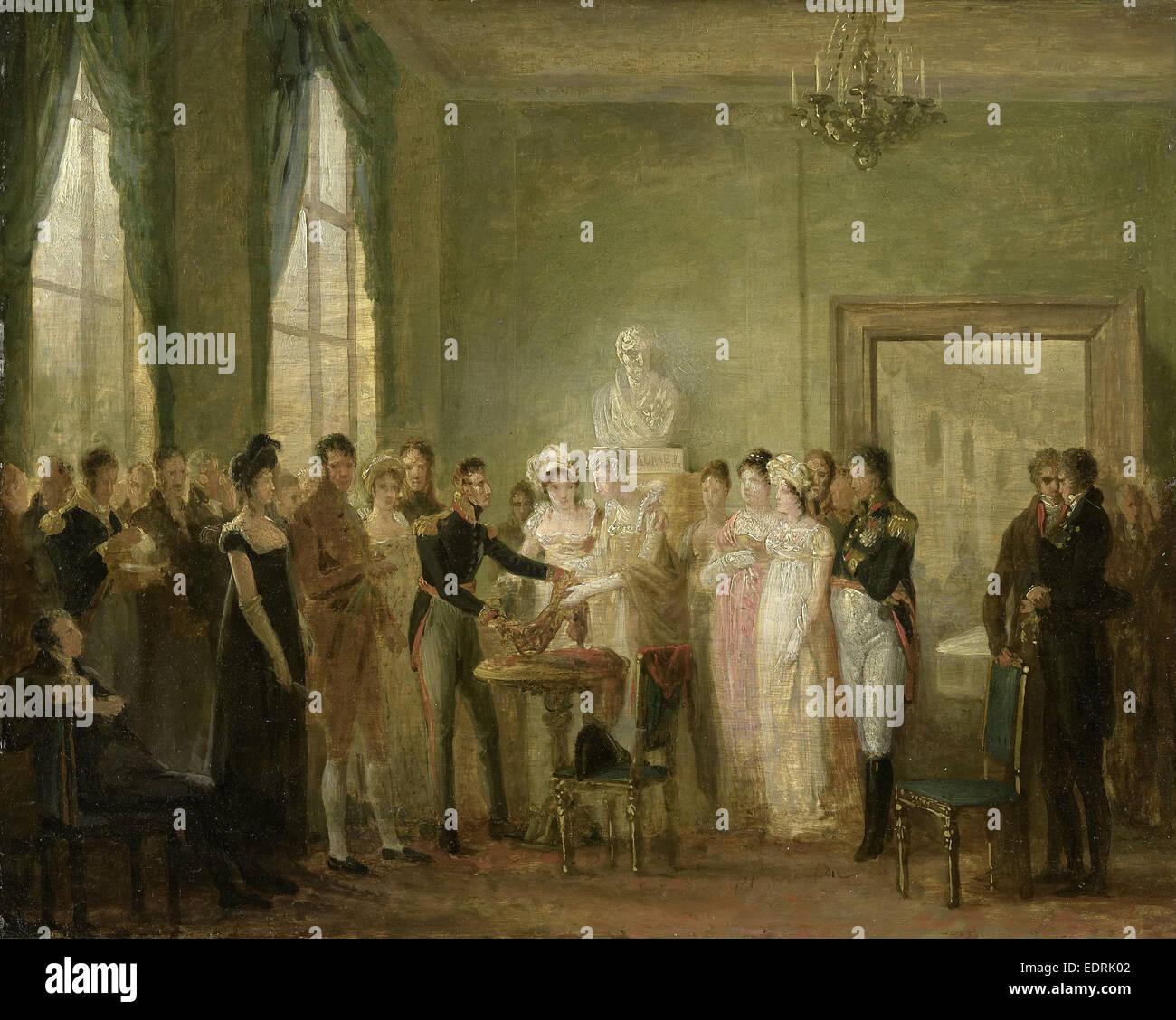 Unidentified historical performance, Mattheus Ignatius van Bree, 1815 - 1830 - Stock Image