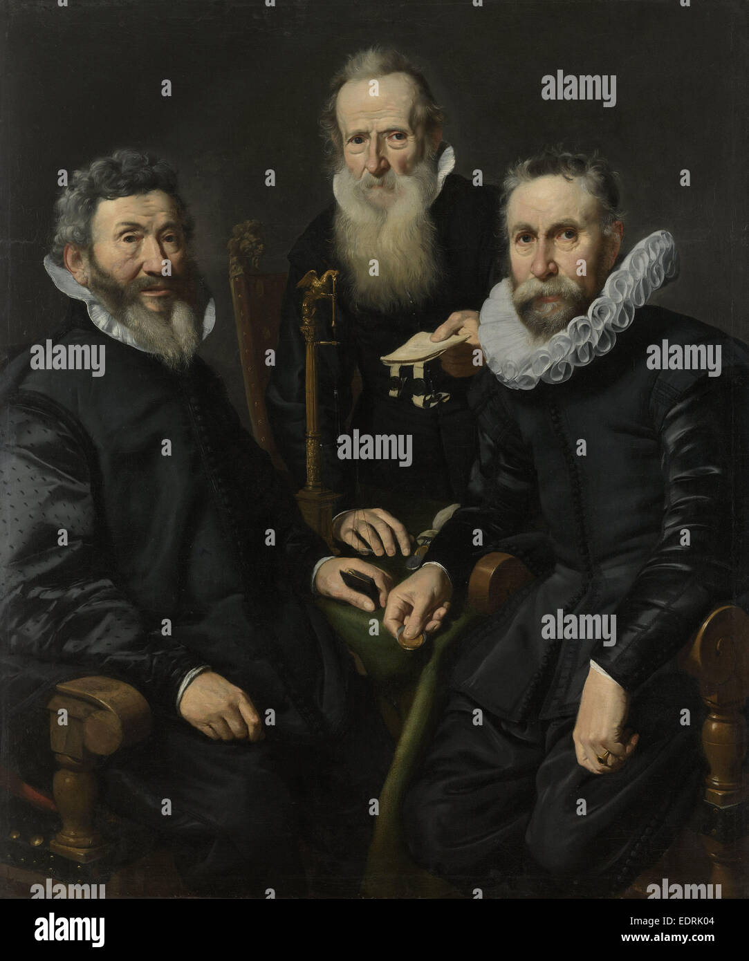 Group Portrait of an Unidentified Board of Governors, Thomas de Keyser, c. 1625 - c. 1630 - Stock Image