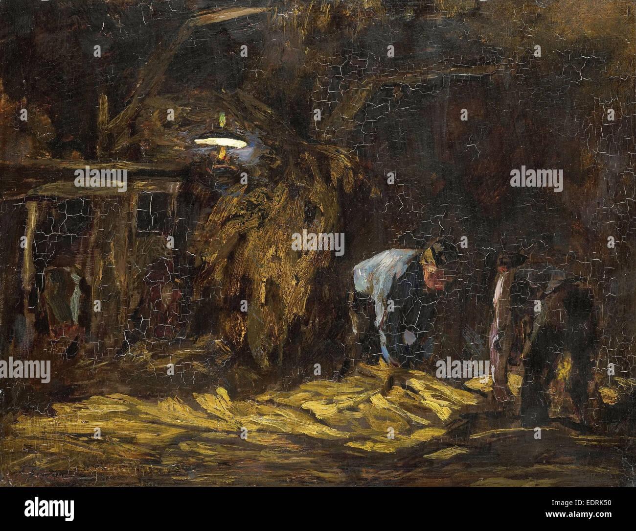In the barn, Willem de Zwart, 1885 - 1931 - Stock Image