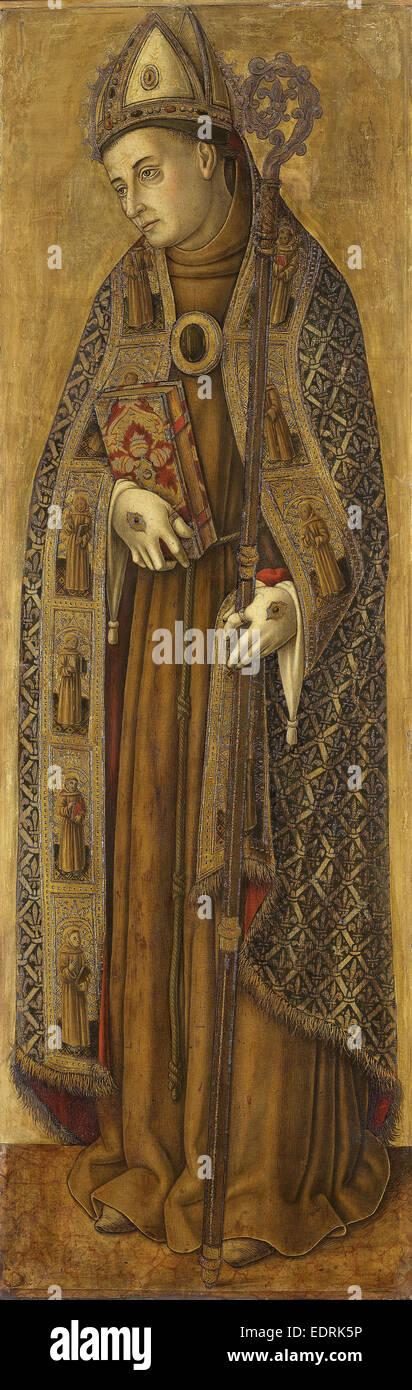 Saint Louis of France, Vittore Crivelli, 1481 - 1502 - Stock Image